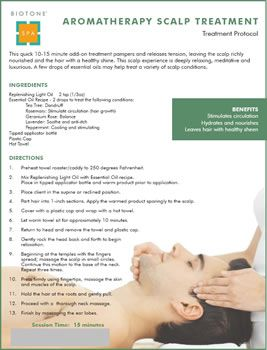 Biotone Aromatherapy Scalp Treatment Spa Menu Scalp Treatment Massage Marketing