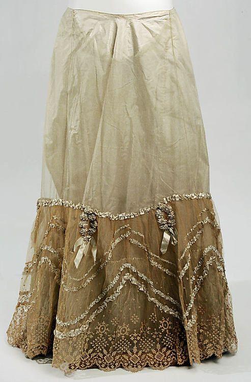 Petticoat, 1890s via The Metropolitan Museum of Art