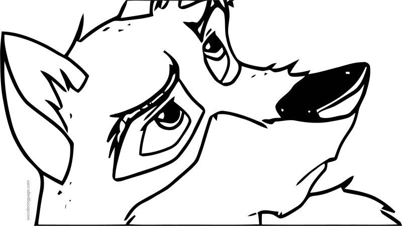 Balto Lb Wolf Coloring Page in 2020 | Animal coloring ...