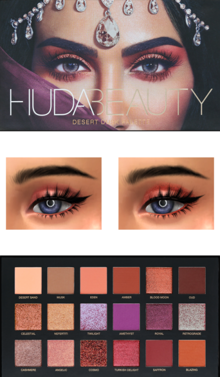 Lana Cc Finds Huda Beauty Desert Dark Palette Sims 4
