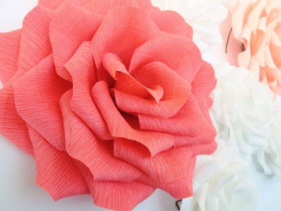 6 grandes de papel gigantes flores rosas boda arco decoración
