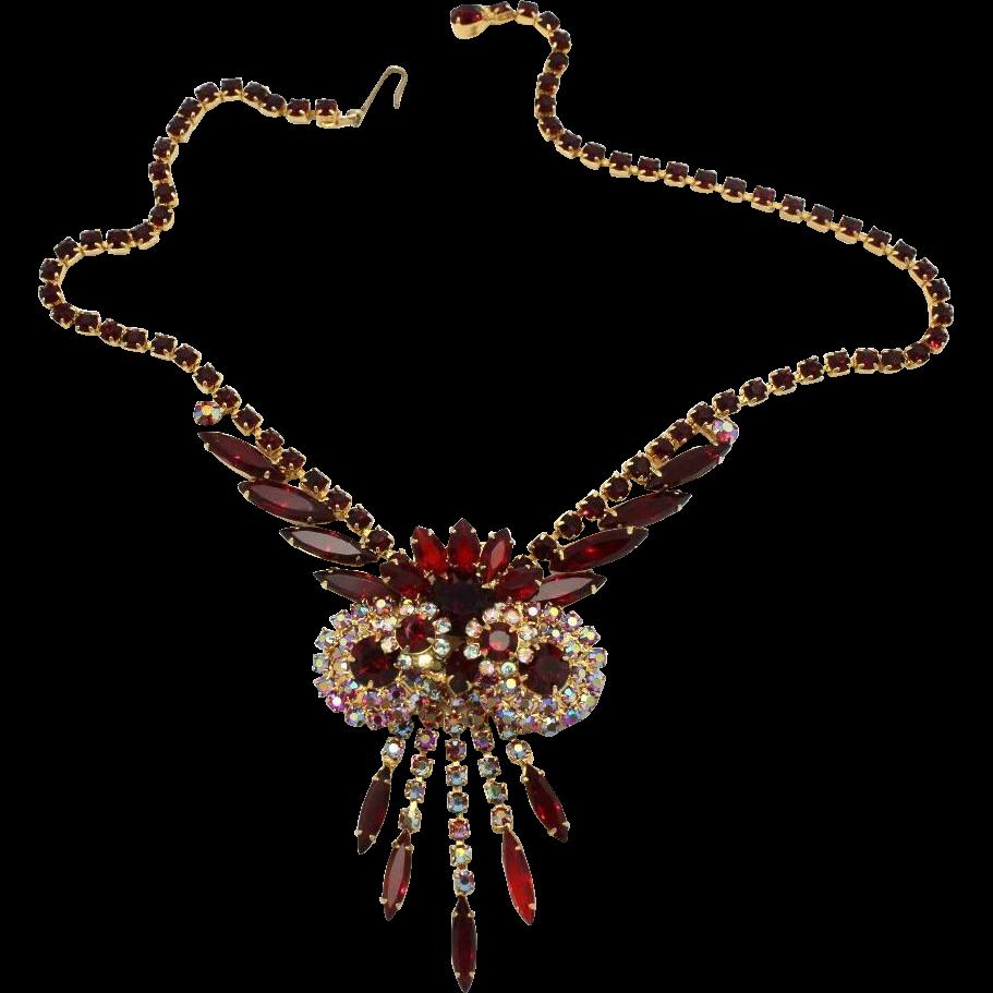 Juliana DeLizza & Elster Siam Red Owl Necklace