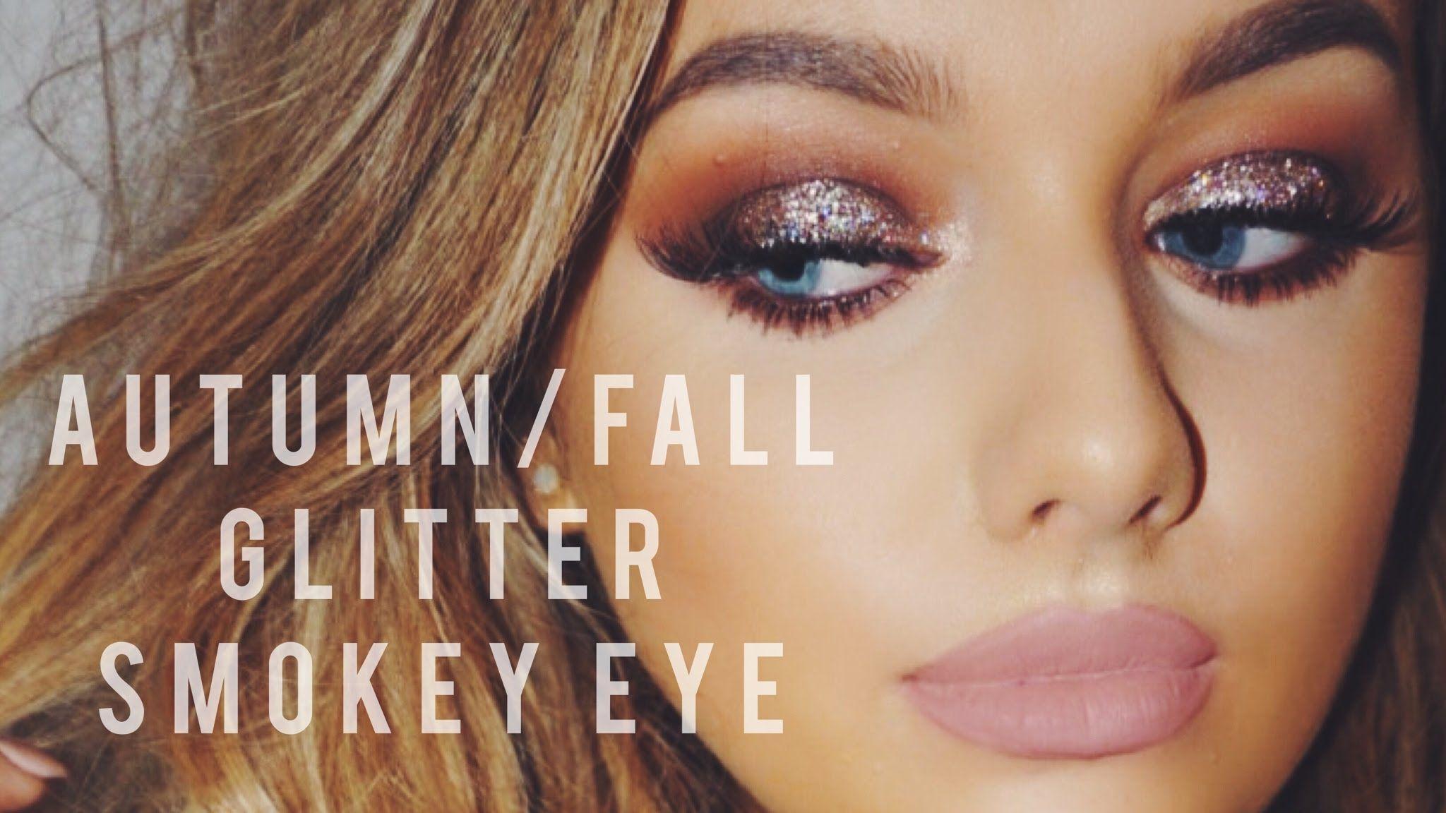 AutumnFall Glitter Smokey eye  Rachel Leary  Makeup Tutorials