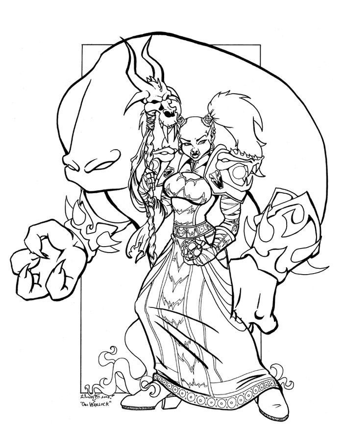 World Of Warcraft Orc Coloring Pages Malvorlagen Vorlagen World Of Warcraft