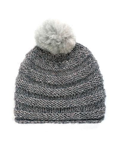 5759febb Alpaca Hat Knitting Pattern: alpaca wool beanie beret knitting kit ...
