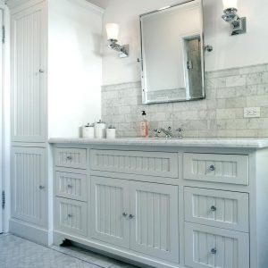 60 Inch Bathroom Vanity Cottage Style Beadboard White Cabinet Throughout Sizing 1200 X 941 Cabinets Help You O
