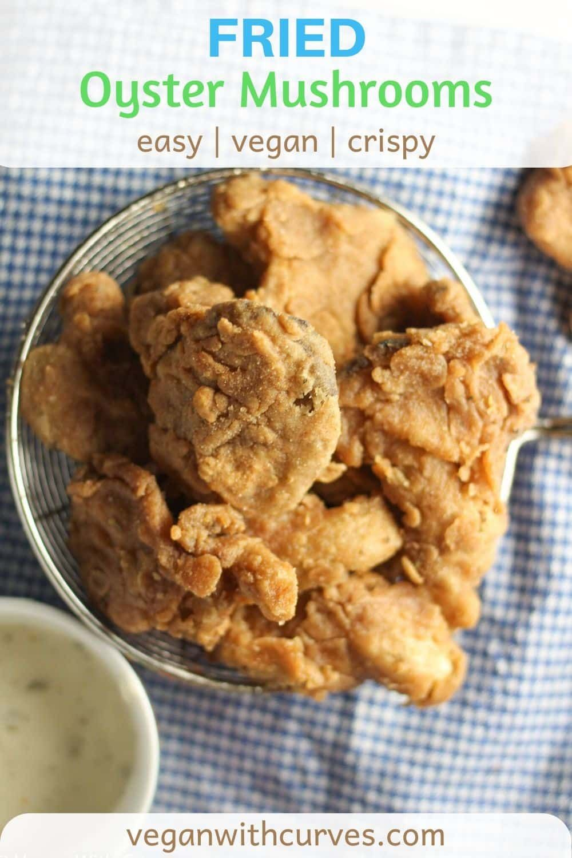 Addicting Fried Oyster Mushrooms Fried Chicken Substitute Recipe In 2020 Vegan Fried Chicken Stuffed Mushrooms Vegan Dishes