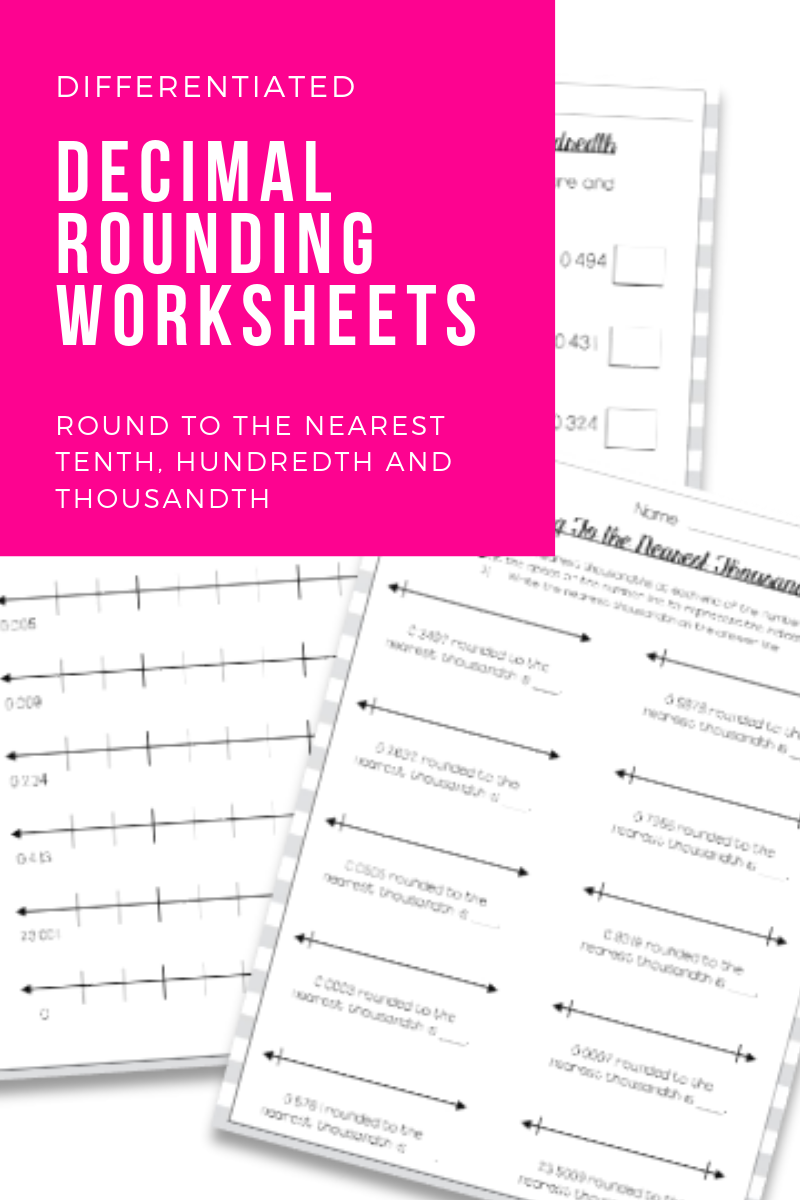 Decimal Rounding Worksheets   Rounding decimals worksheet [ 1200 x 800 Pixel ]