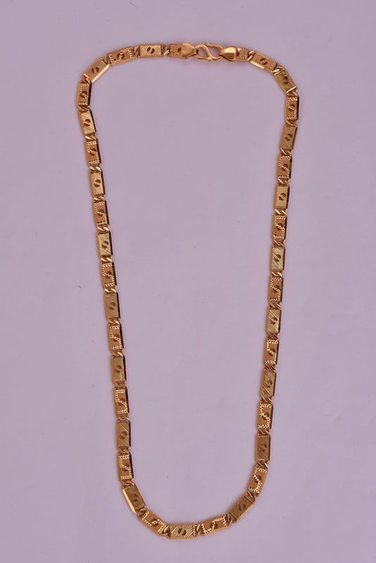 22k Gold Chain In Solid Yellow Gold Men S Dubai Chain Necklace Hallmark 21 Inch Gold 22k Gold Chain Fine Gold Necklace