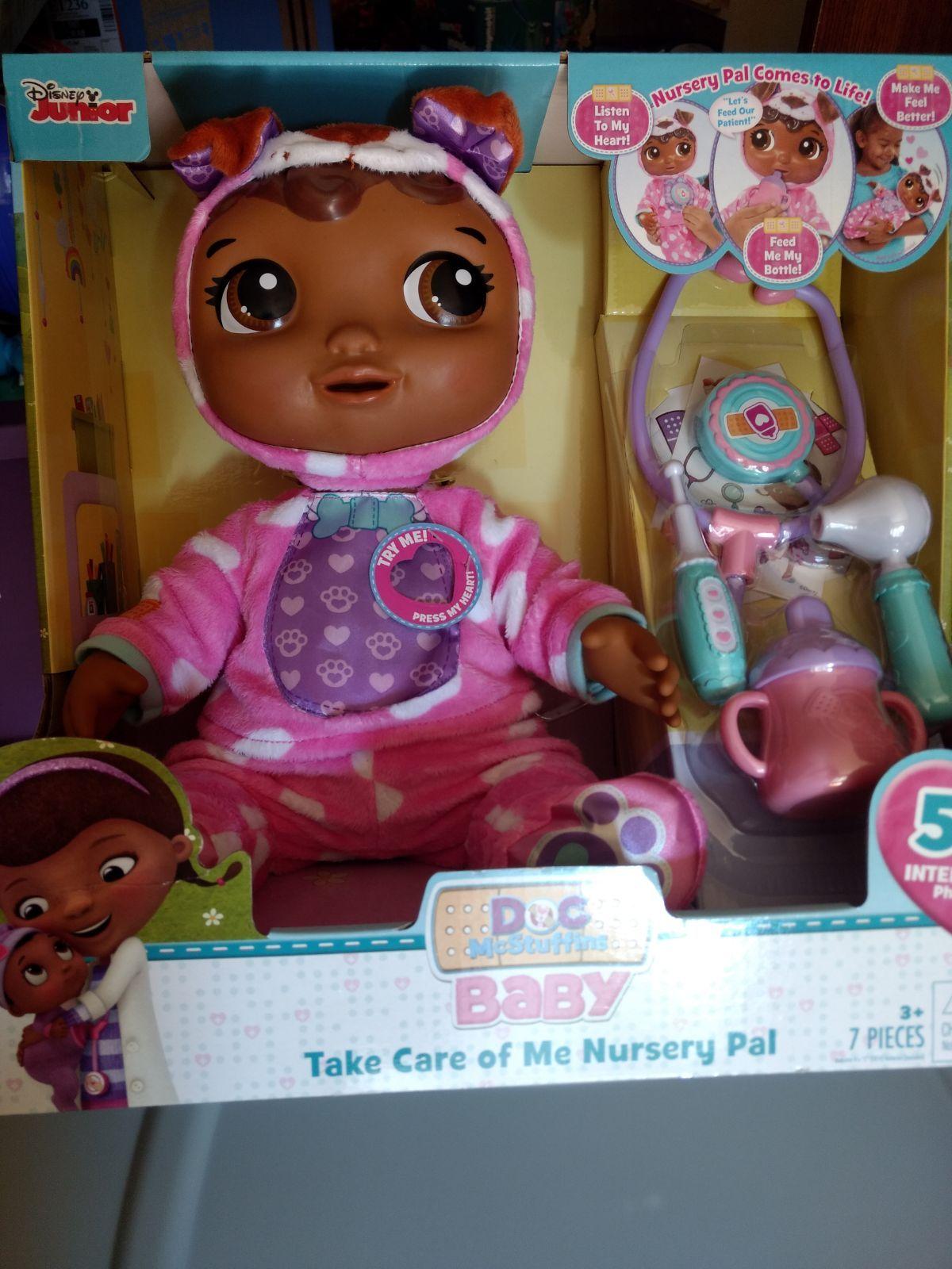 Disney Junior Doc Mcstuffins Baby Take Care Of Me Nursery Pal 50 Interactive Phrases Listen To My Heart Feed Me My Bottle Disney Dolls Disney Junior Disney