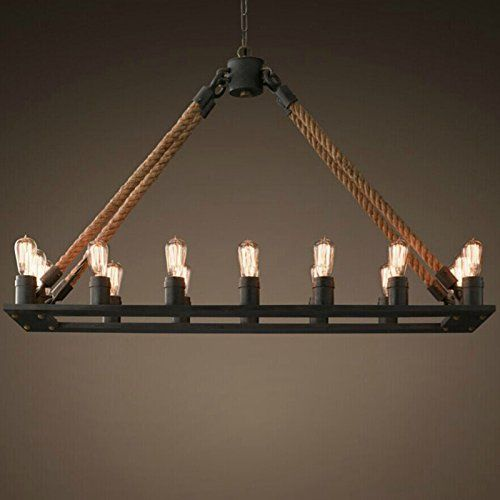 Perfectshow 16 lights hemp rope metal rustic country style pendant perfectshow 16 lights hemp rope metal rustic country style pendant lamp island lights perfectshow http aloadofball Images
