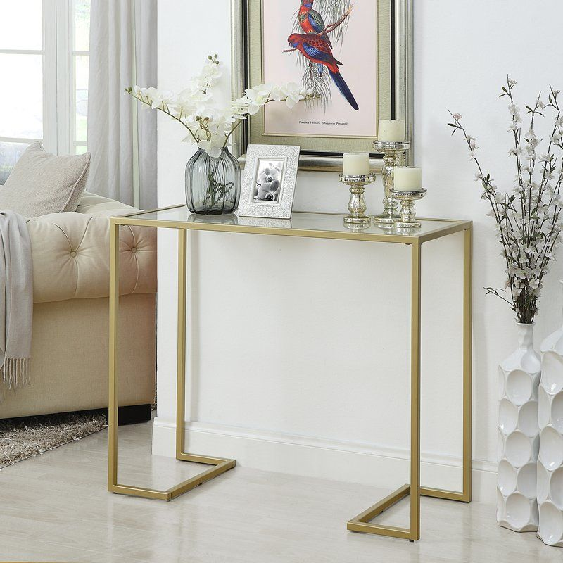 Dowling Glass Top Console Table Console Table Decorating Modern Console Tables Glass Console Table