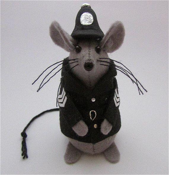 Mouse Police Woolly Art Batt