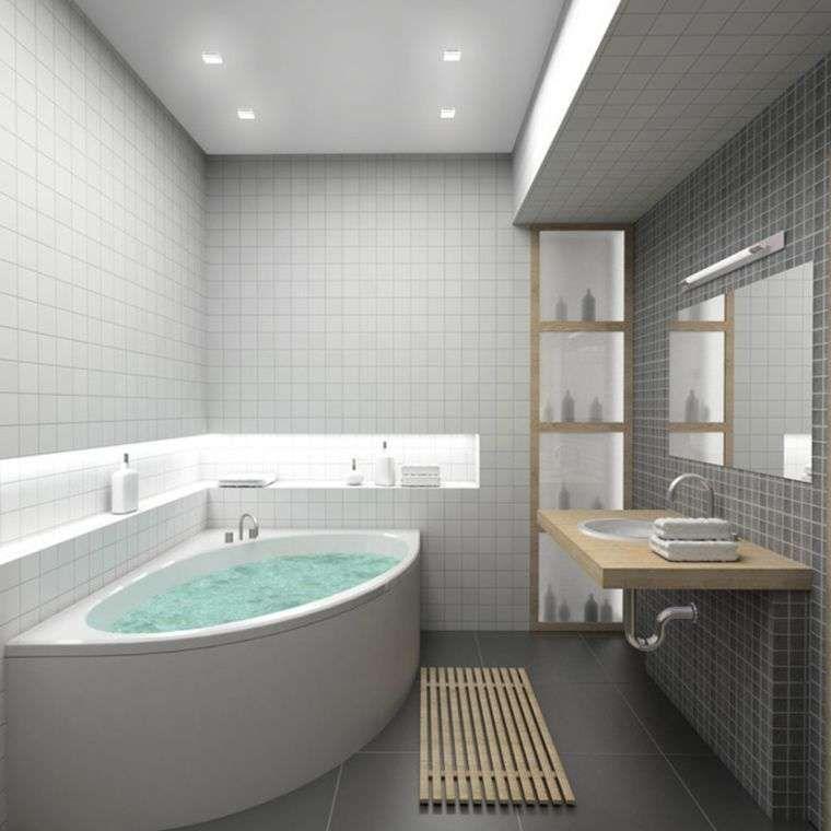 Arredi per il bagno in legno e grigio luxury bagno for Arredi da bagno