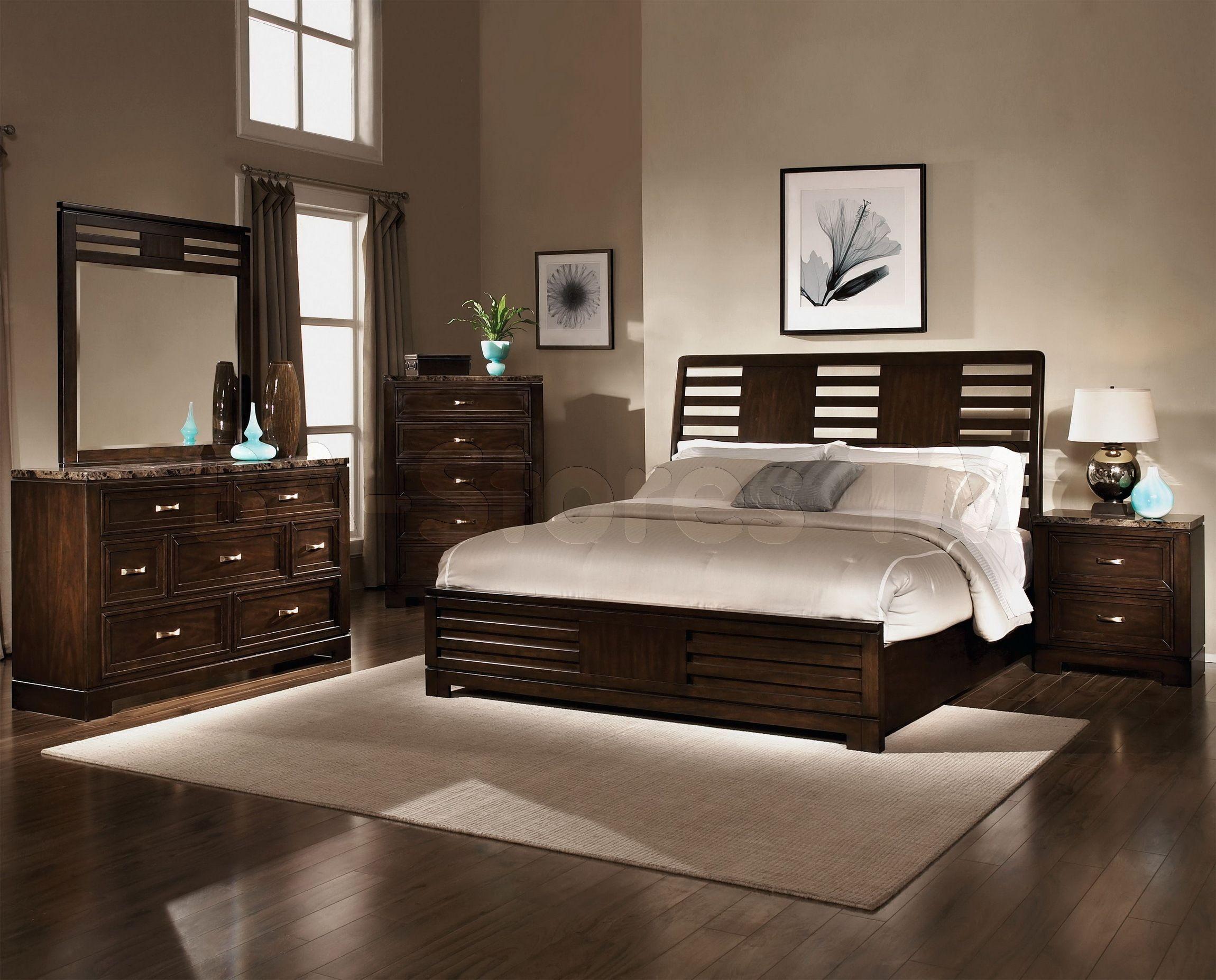 Luxury Bedroom Decorating Ideas Dark Brown Dressing Table Modern