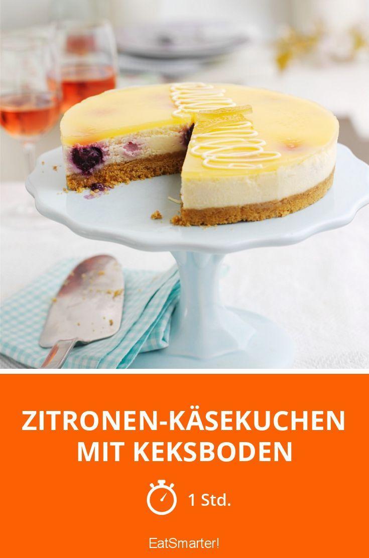 Zitronen-Käsekuchen mit Keksboden | Rezept in 2019 | Backe ...