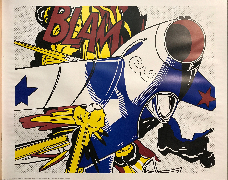 Blam by Roy Lichtenstein - vintage and original exhibition poster ...