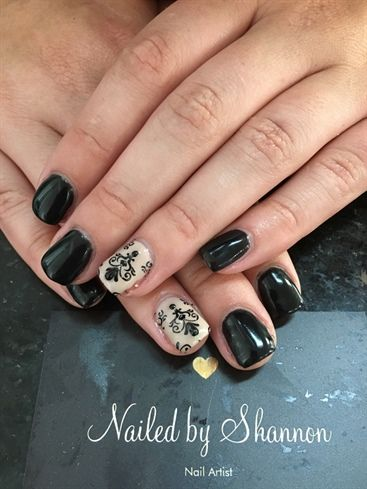 Black And Tan Nails By Nailedbyshannon Nail Art Gallery Nailartgallerynailsmag Magazine Nailsmag 23nailart