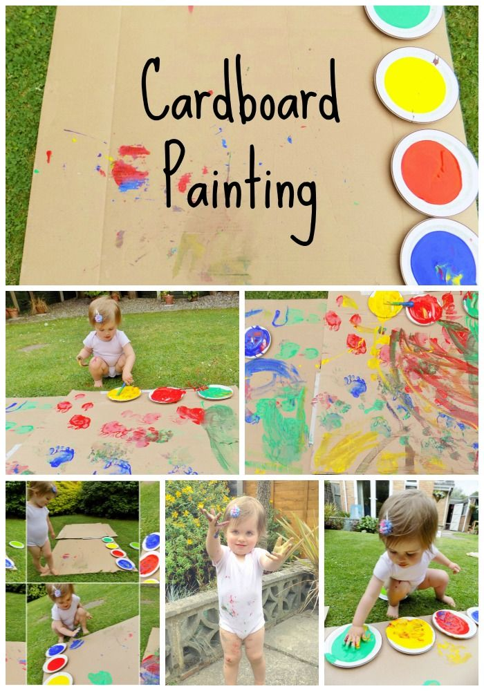 Outdoor Cardboard Painting Toddler