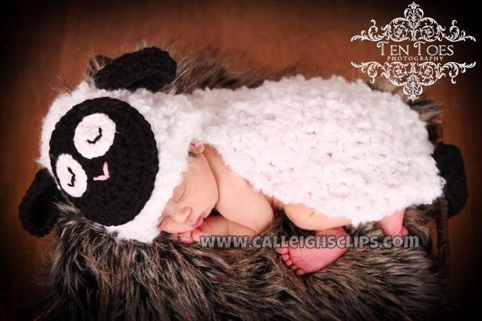 Fleecy The Lamb Cuddle Critter Cape Set