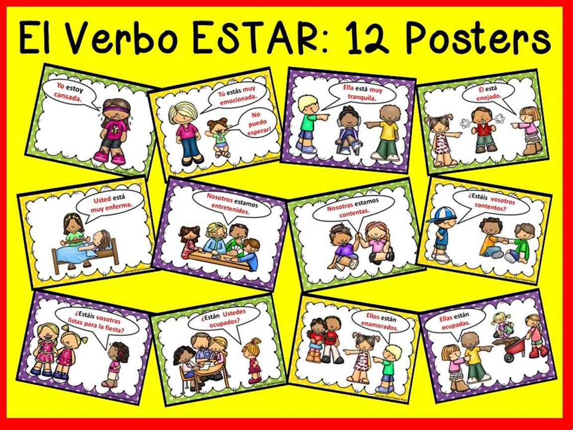 Estar With Emotions Estar Posters And Worksheets Spanish Subject Pronouns Learning Spanish For Kids Learning Spanish [ 864 x 1152 Pixel ]