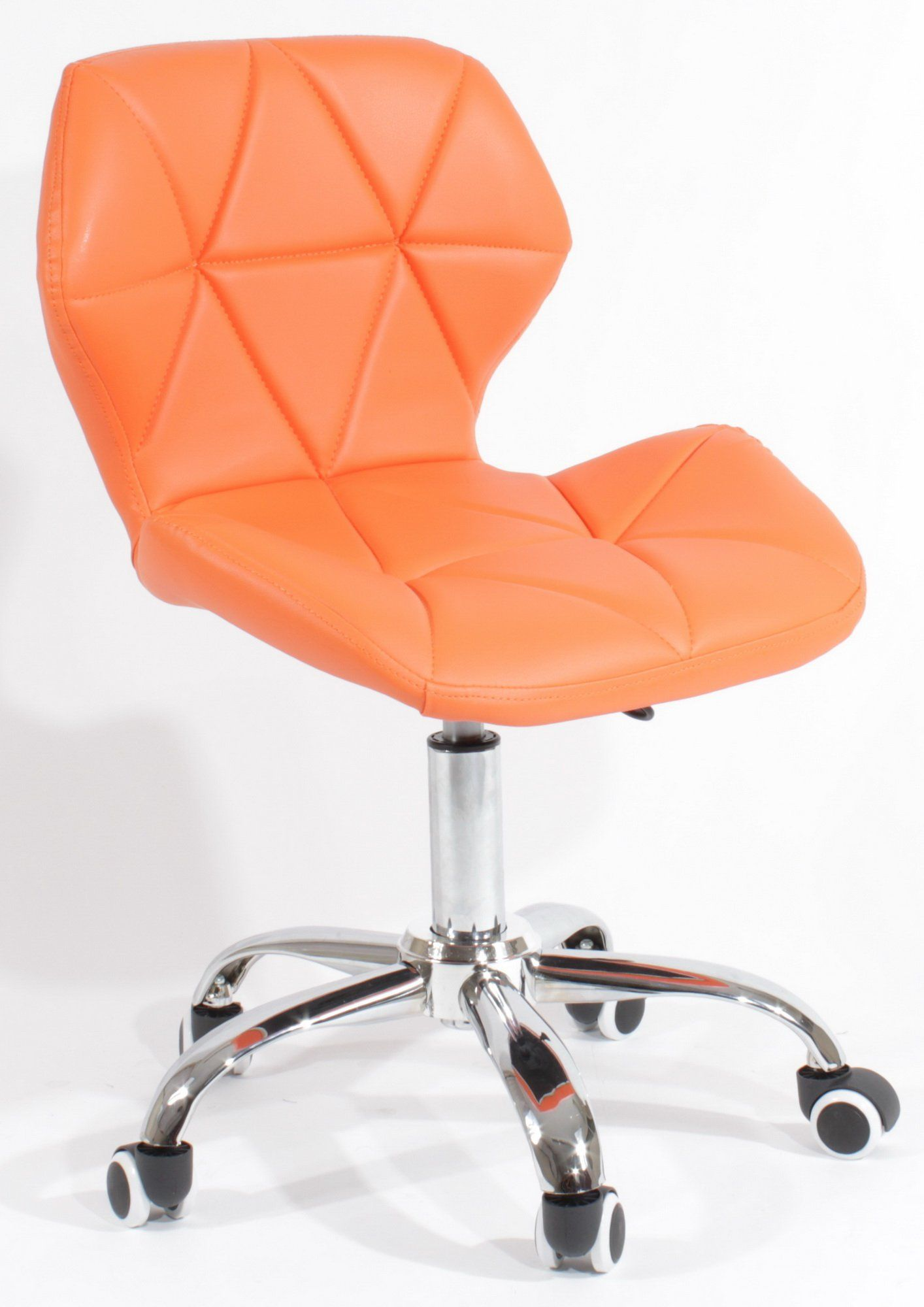 Charles Jacobs Dining Office Chair With Chrome Legs With Wheels