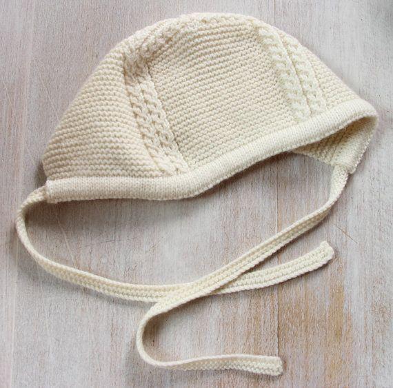27 / Baby Bonnet Princess Charlotte / Knitting Pattern Instructions ...