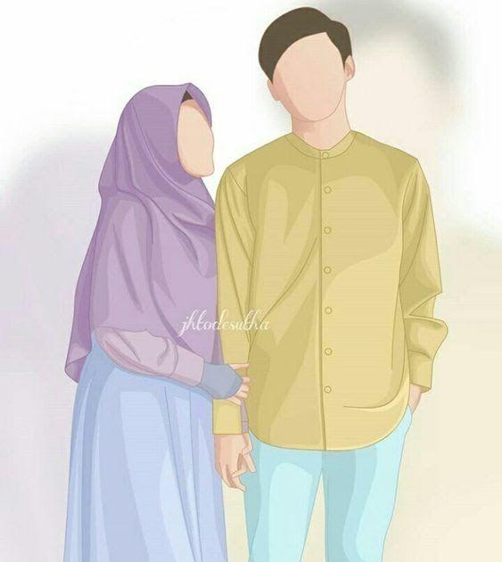 15 Foto Kartun Muslimah Bersama Pasangan Kumpulan Gambar Kartun Muslimah Couple Bercadar Cara Baruq Download Vi Kartun Ilustrasi Karakter Lukisan Keluarga