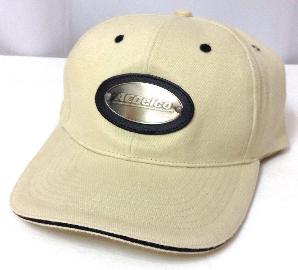 55b465e7dbf unique AC DELCO HAT Beige Cream-Off-White Black Silver Metal Emblem  Men Women  MC  BaseballCap