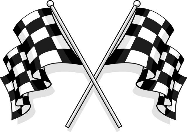 Checkered Flag Clip Art Dengan Gambar Bendera Karya Seni 3d
