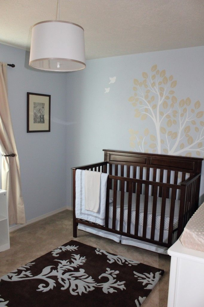 Noa Michael S Blue Brown And Cream Nursery Light Blue Walls