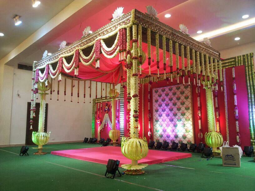 Indian wedding decor indian wedding wedding decoration for Indoor stage decoration