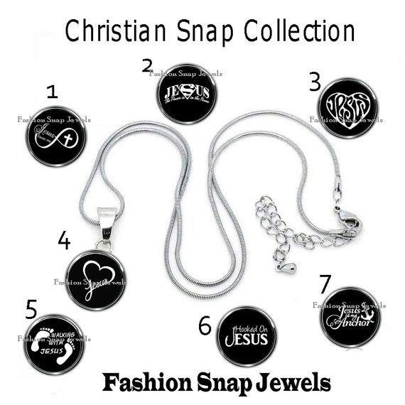 Christian Snap Collection, Snap Charms, fits our large 18mm Fashion Snap Charms, also fits ginger snaps