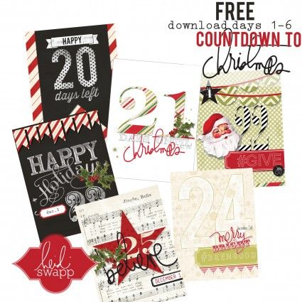 FREE download ---> Countdown tags for the first 6 days of Christmas !  Coordinate with my Believe Collection