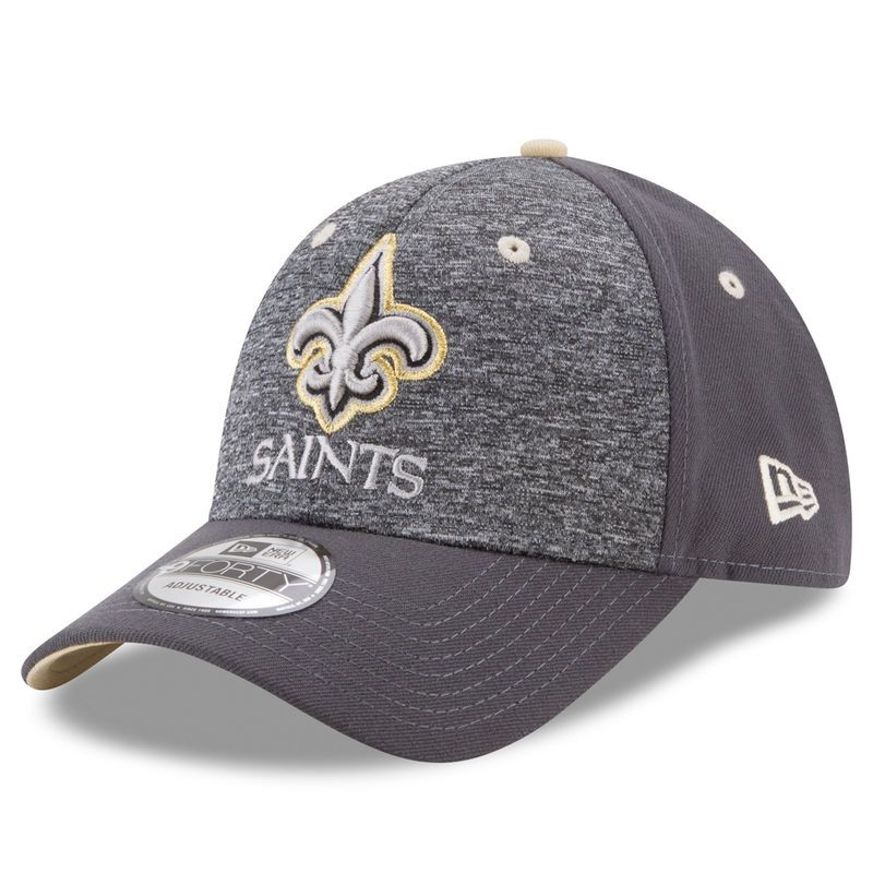 arrives 54d47 a3528 New Orleans Saints New Era The League Shadow 2 9FORTY Adjustable Hat -  Heathered Gray Graphite