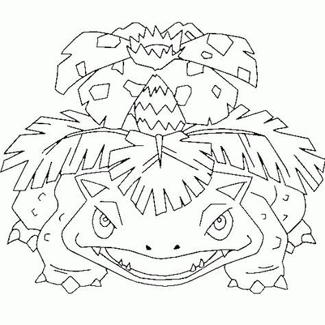 Venusaur Free Pokemon Coloring Page Coloring Pokemon Coloring