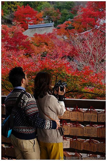 Couple in Kiyomizu-dera temple (清水寺), Kyoto, Japan | Flickr - Photo Sharing!