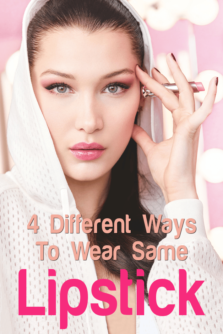 4 Different Ways To Wear Same Lipstick Knowing all the