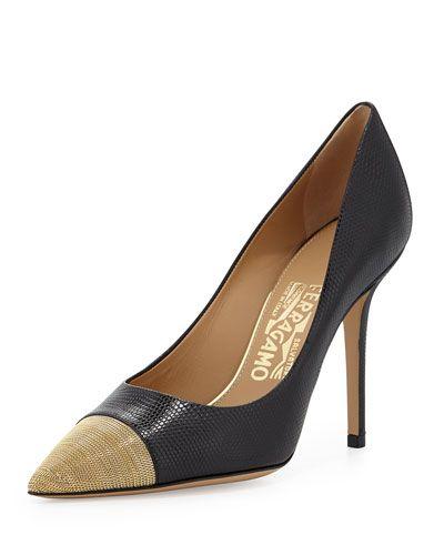 ee596be930a1 Women s Designer Heels   Pumps at Neiman Marcus. LizardsSalvatore FerragamoDesigner  ...