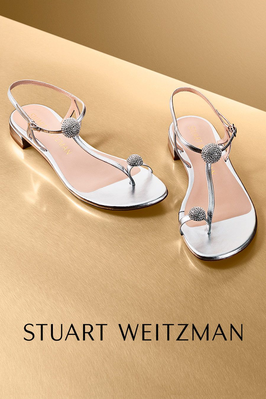 Stuart Weitzman Champagne Embellished Pumps Vintage Wedding Shoes
