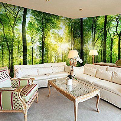Vlies Eckfototapete 550x250 cm ! Top ! Tapete ! Wandbilder XXL - natur wand im wohnzimmer