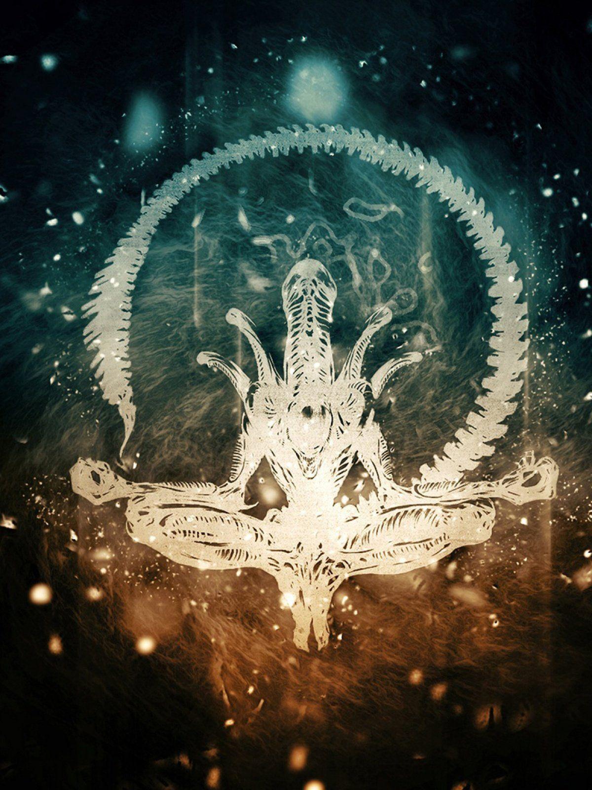 Alien Zen Skeleton Light Mobile Wallpaper Alien Zen Skeleton Light