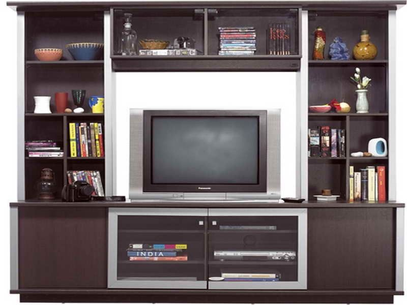 Simple Showcase Designs For Living Room Wall Unit
