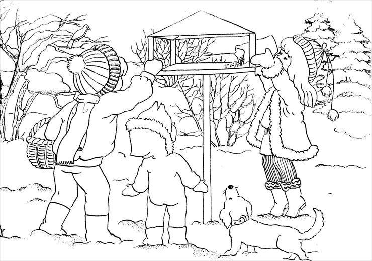 Zwierzeta Zima Obraz17 Gif Kolorowanki Zima Zwierzeta