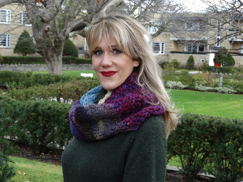 New to LittleGemsByLuisa on Etsy: Purple Cowl - Multi Color Infinity Scarf - Purple Pink Blue Winter Scarf - Handmade Scarf - Crochet Cowl - Crochet Winter Scarf (40.00 USD)