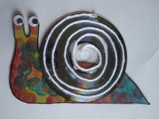 Toddler Approved!: REused CD  Snail