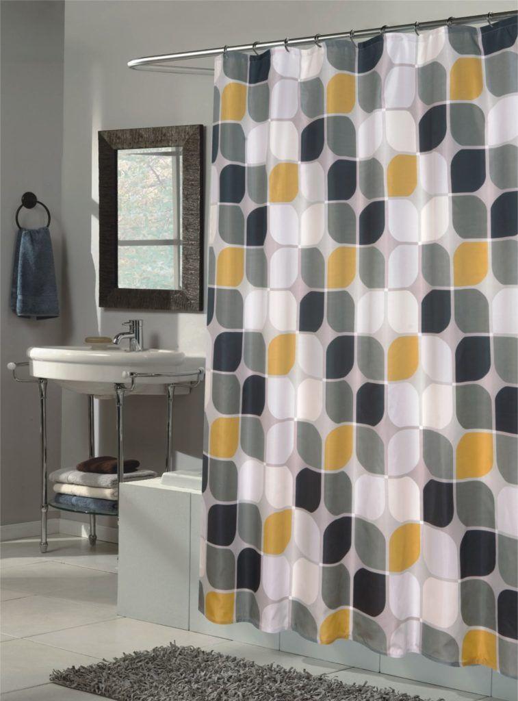 shower curtain yellow bathroom decor