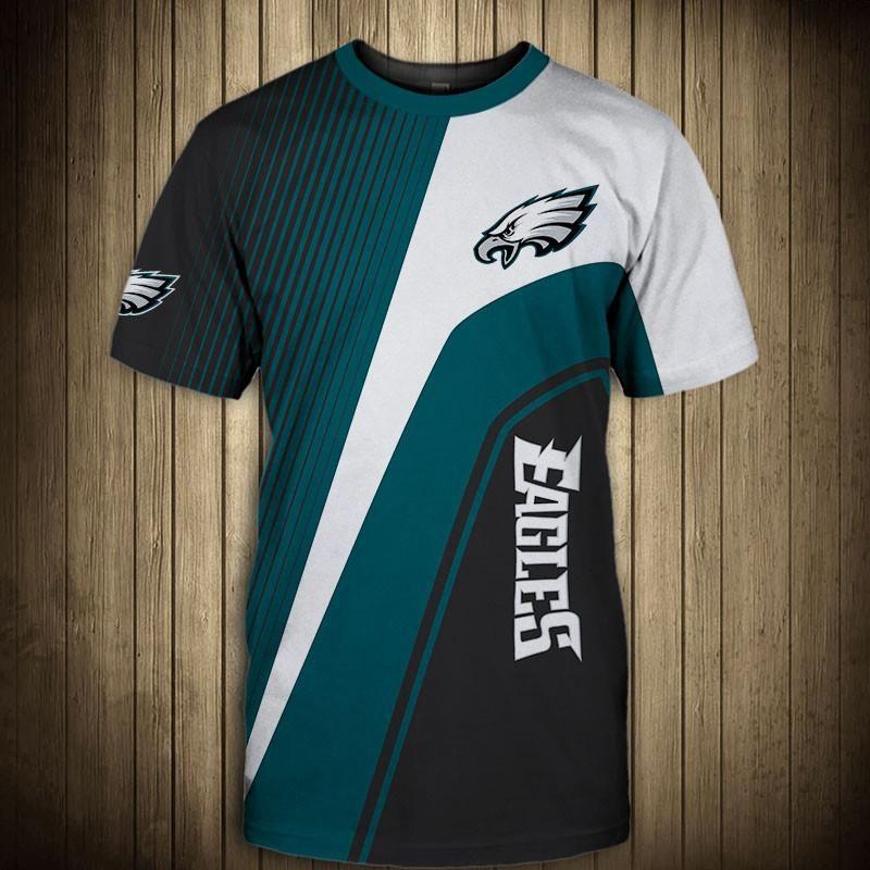 huge selection of c260c faa37 NFL T shirt 3D Custom Philadelphia Eagles T shirts Cheap For ...