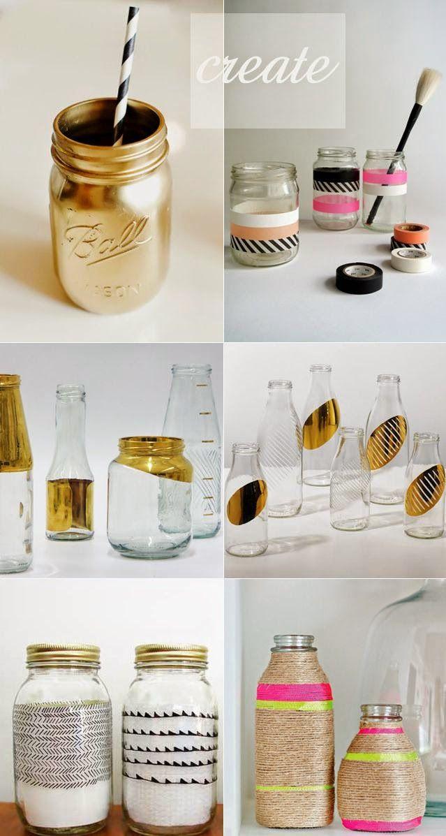Tasarım Dünyası: Kavanozlarınızı Süsleyin :)