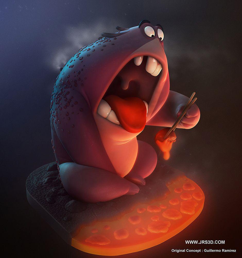 Lava Monster By Jose Rodriguez Cartoon 3d Cgsociety Diseno